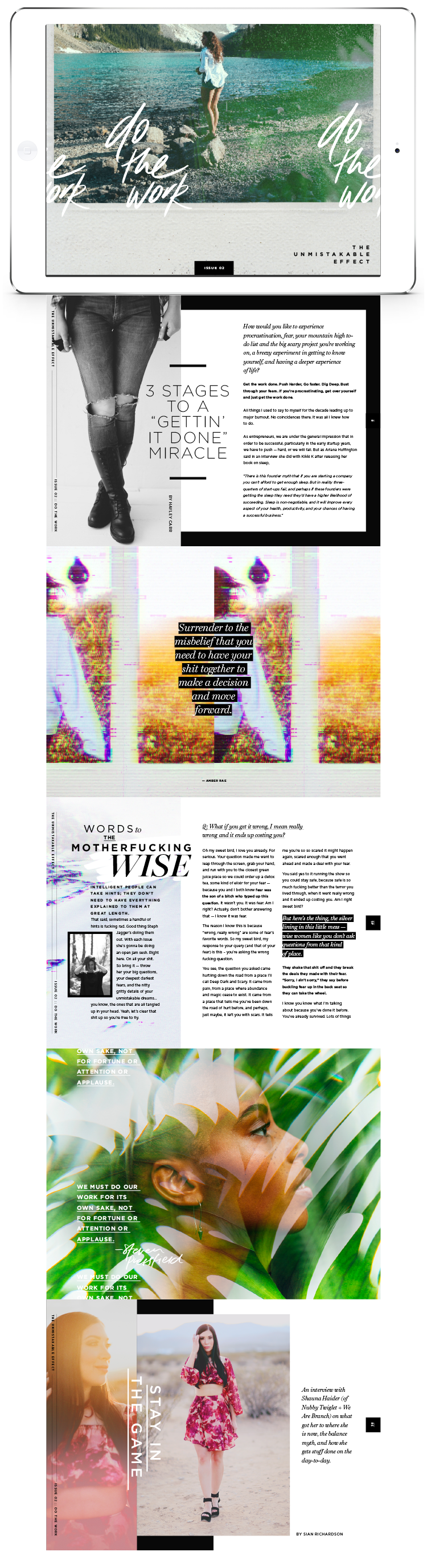 The Unmistakable Effect | Digital + Print Magazine | sianrichardson.co