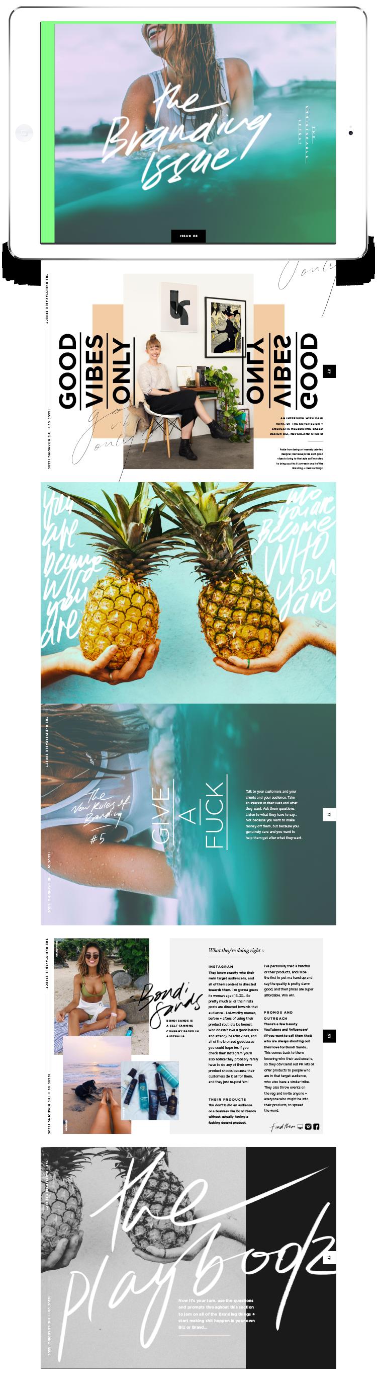 The Unmistakable Effect | Digital + Print Magazine | sianrichardson.co