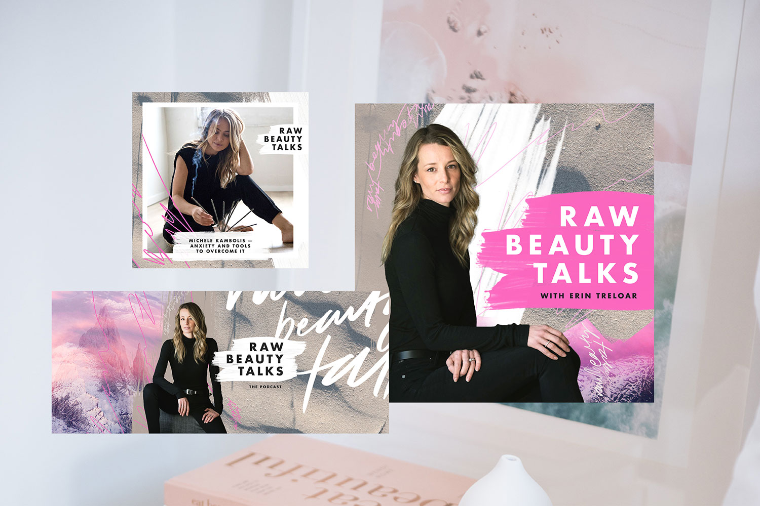 Podcast Cover + Supporting Artwork — Raw Beauty Talks