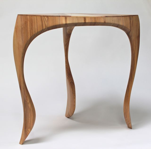 Corner table:  solid English ash, number one of an edition of three