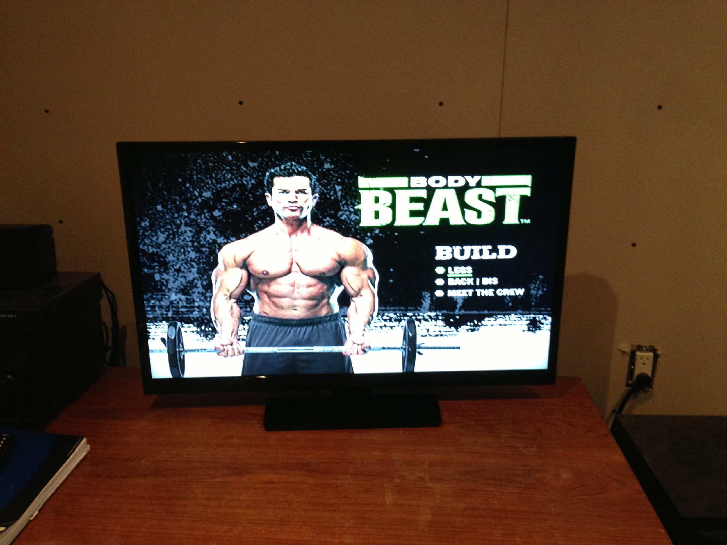 "Purchased and set up a new 30"" flat screen."
