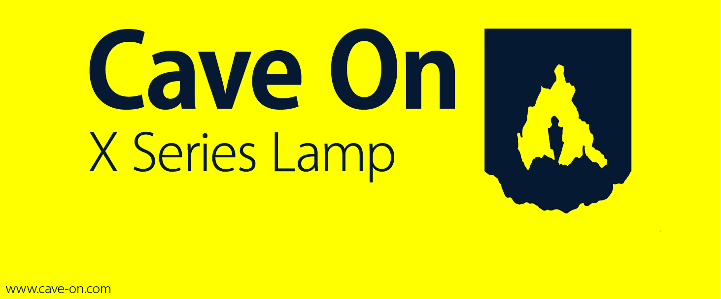 Cave On, 2014    Logo and brand direction for a caving flashlight, battery, and accessory maker out of Montana.