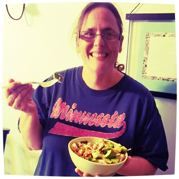 """Stephanie enjoys her """"Lean and Green"""" Meal"""