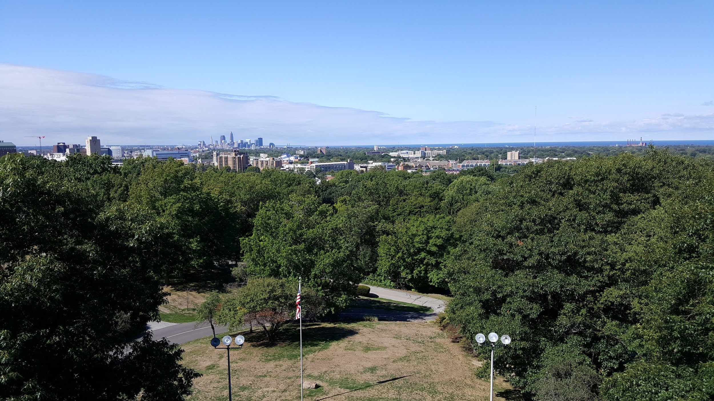 Spectacular views from the Garfield Memorial