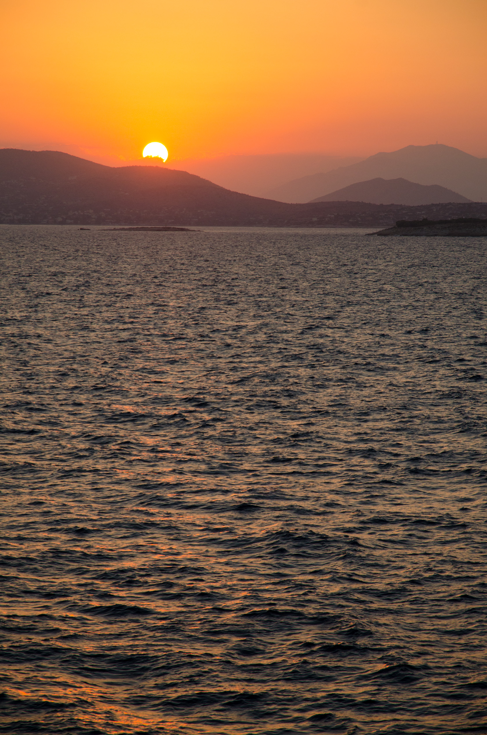 Sunset over Peloponnese