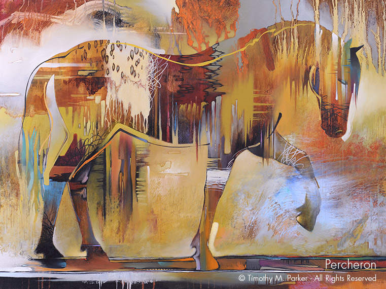 Fine Art Galleries With Abstract Horse Paintings