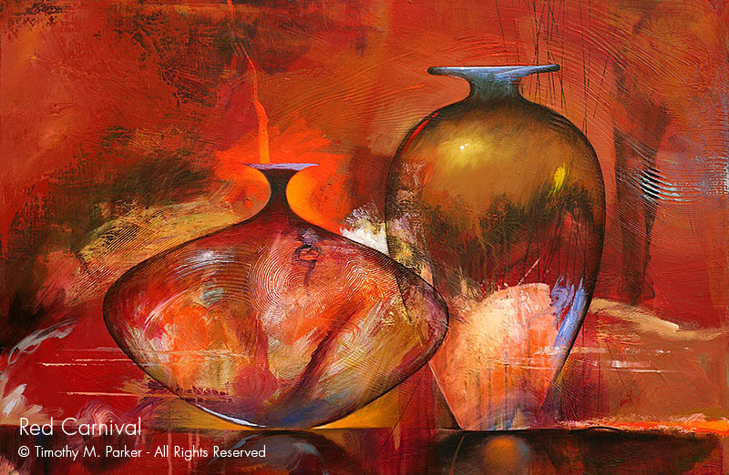 Contemporary Art Vase Paintings