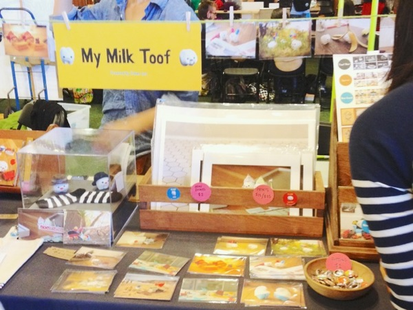 My Milk Toof's super adorable booth, you could see the 2 little stars inside the glass box