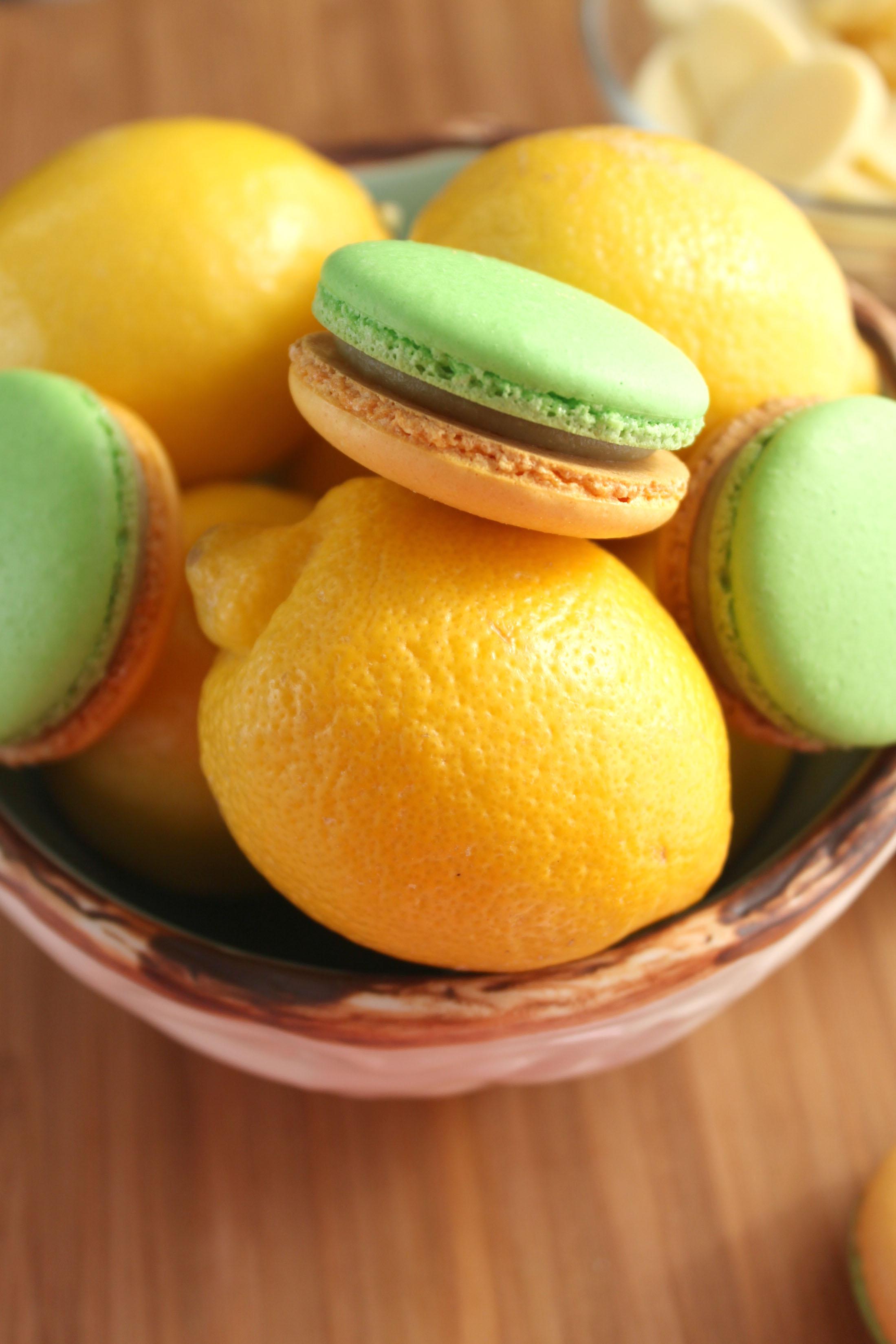 Avocado Lemon Macaron