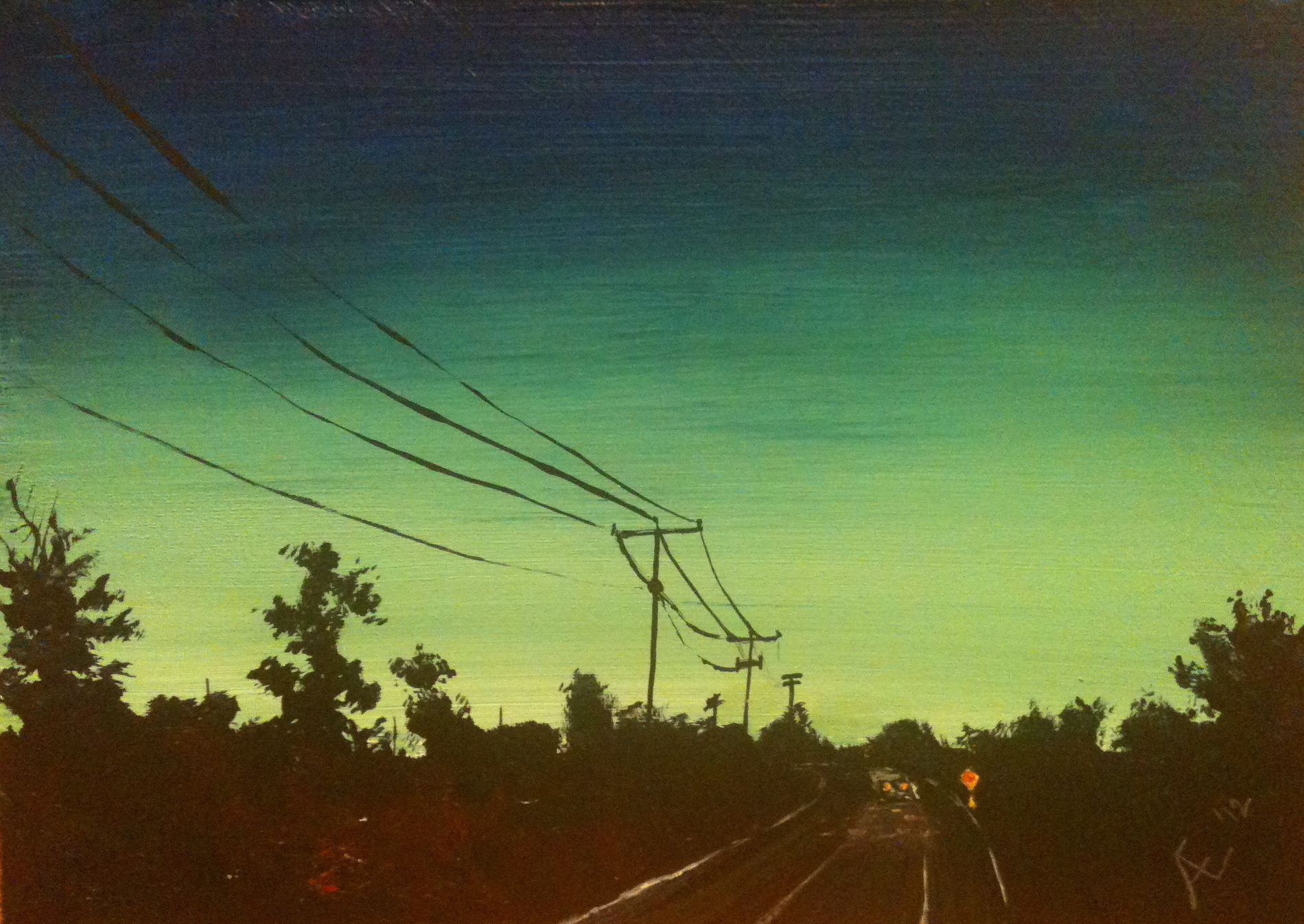 Powerlines at Dusk