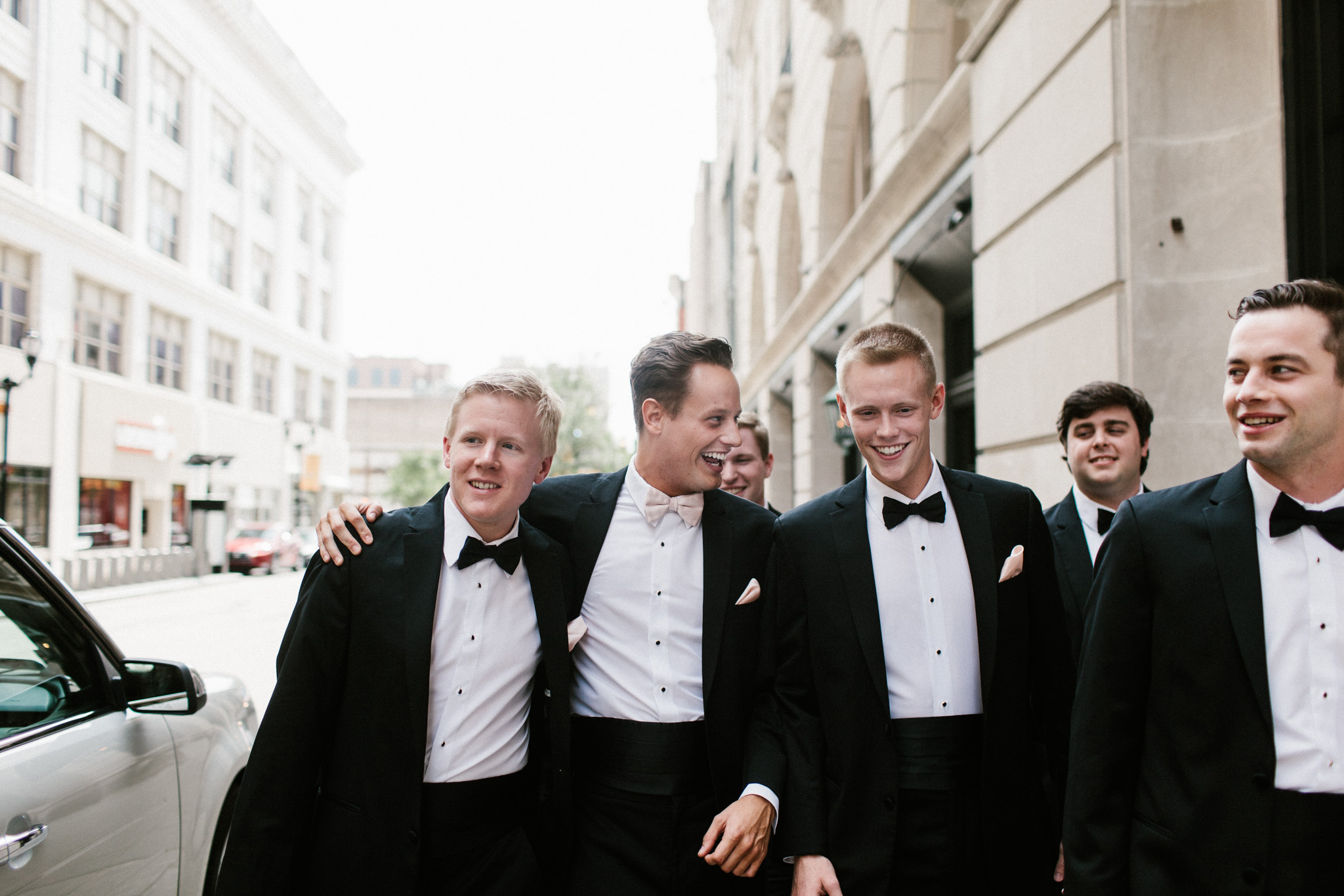 groomsmen fourth street walking