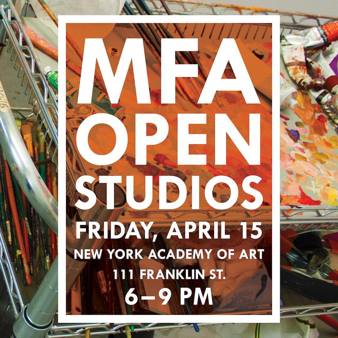 Save the date!  This Friday 6-9pm #111franklin Street @nyacademyofart  Check out my studio along with the work of my extremely talented classmates! Hope to see you all there! #openstudios #fineart #nycart #artstudio #mfa  (at New York Academy of Art)