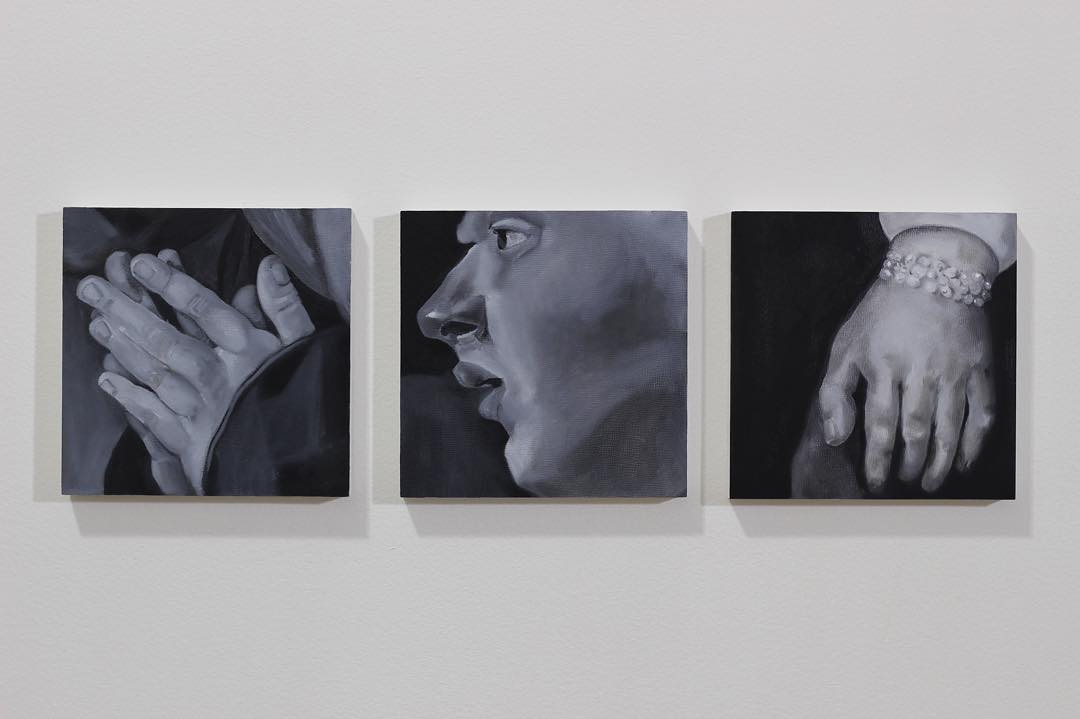 Master copies in monochrome. Guess the artists and win a New Years high five. ✋🏼 #oilpainting #monochrome #111franklin #painting #fineart #hand