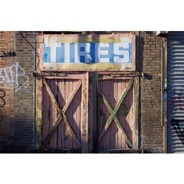 XX #tires #pink #door #Brooklyn #texture #shadows
