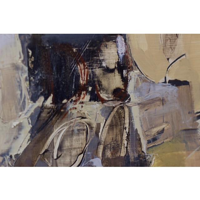 Close-up. #WIP #mixedmedia #oilpainting #instaart #fineart #texture #gallery #bellasartes #greenpoint #artstudio #Brooklyn  (at Studio 18)