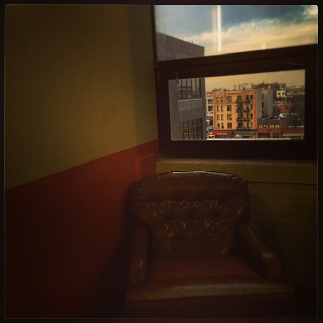 #studio34 #window #queens #ArtStudio #chair #sunset #paint