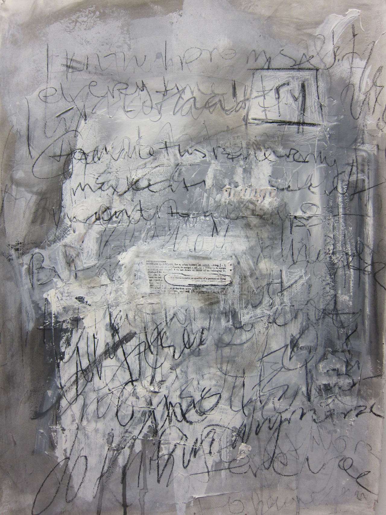 If You Could Change One Thing  2013   charcoal, graphite, conte crayon and gesso on Arches paper   30 x 22 inches      http://www,taniaalvarez .com