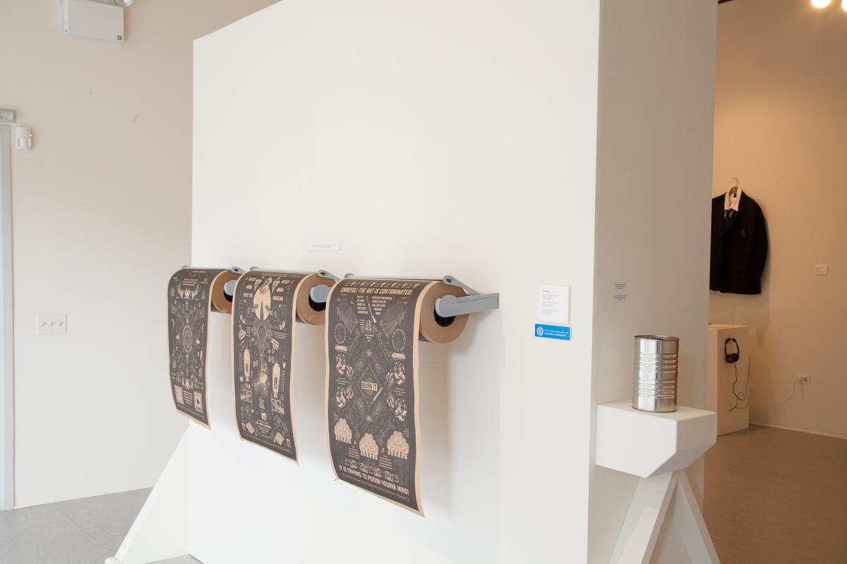 Installation view of work by Kyle Fletcher