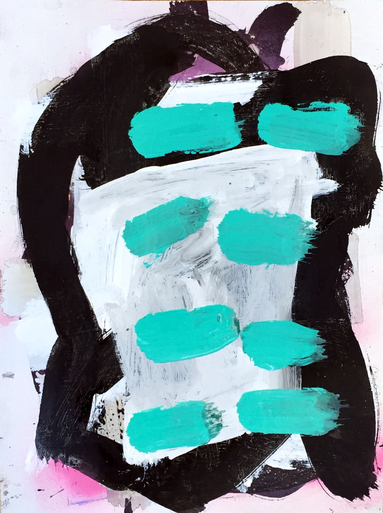 03 acrylic, india ink and spray paint on paper 9 in x 12 in