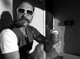 hipster beer koozie