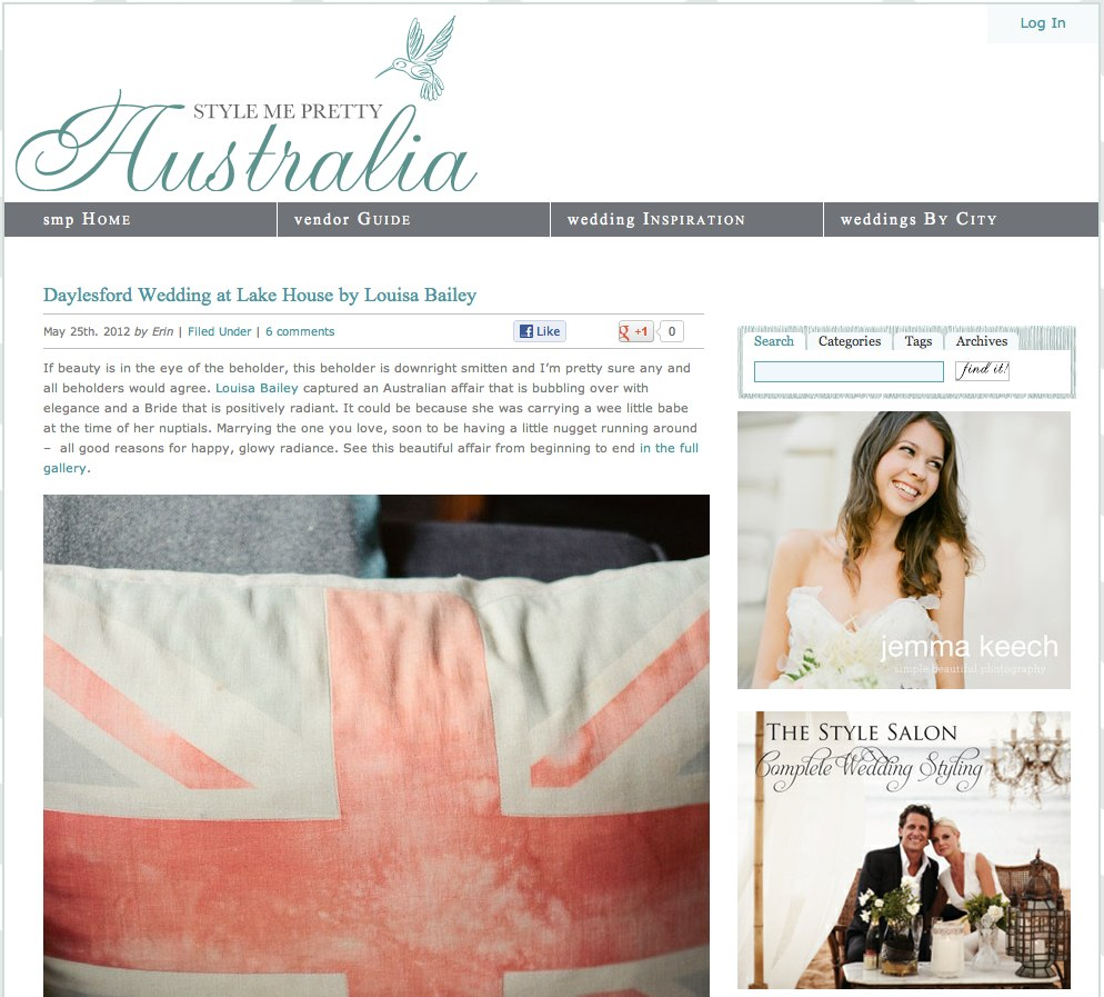 Daylesford Wedding at Lake House by Louisa Bailey | Style Me Pretty.jpg