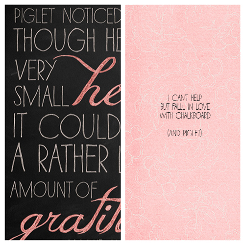 """Pink digital paper used above from  Paislee Press """"Once""""  kit."""