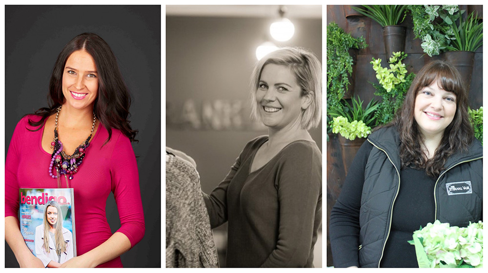 Andrea from Bendigo Magazine, Paige from Frankie & Co, Miranda from The Eternal Vase