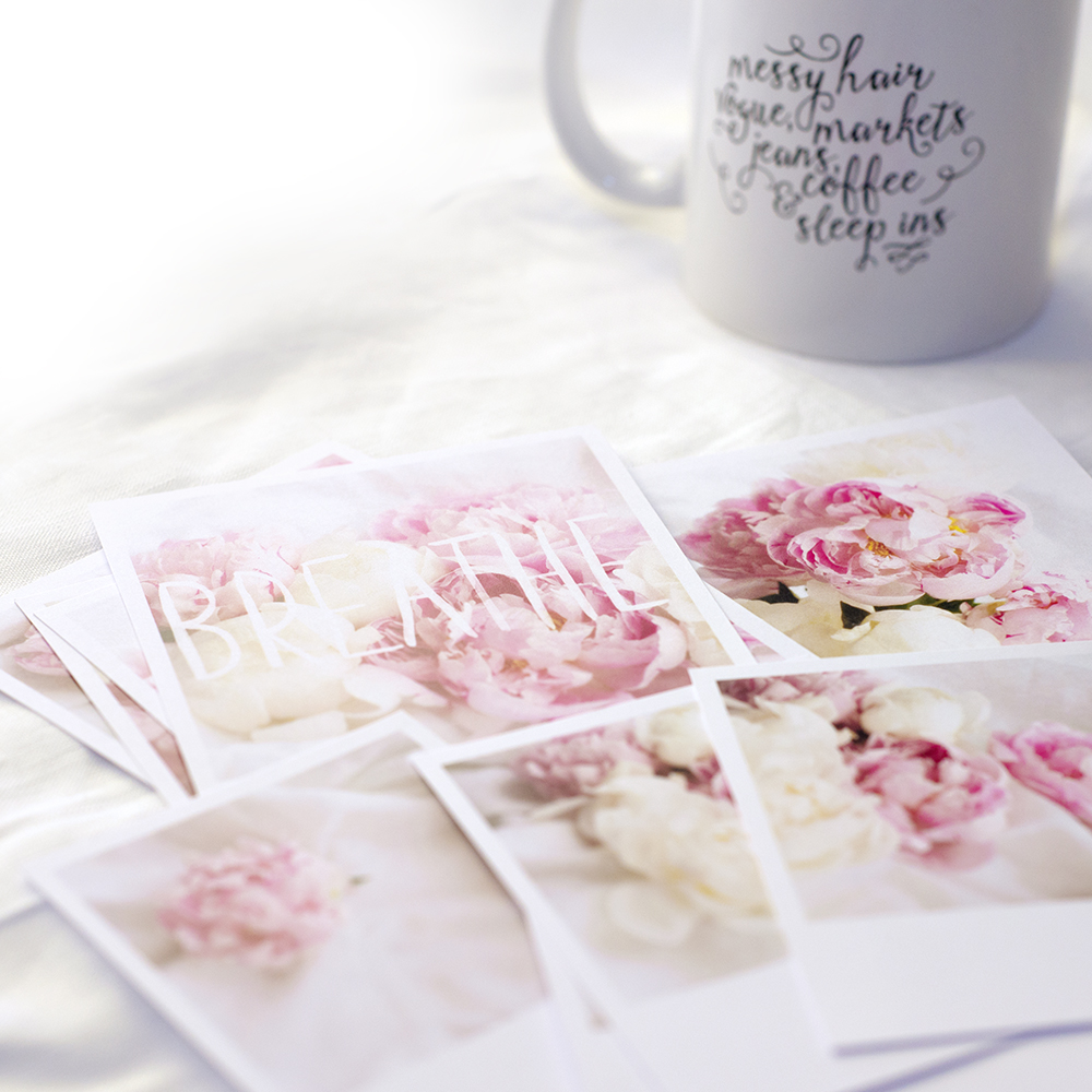 Peonies & Linen Mini Prints