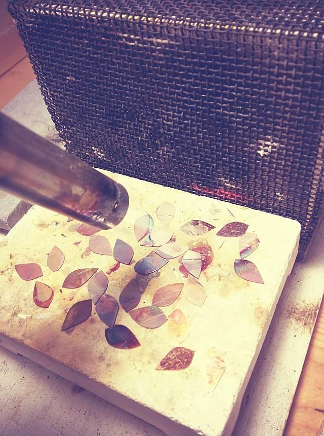 annealing copper petals