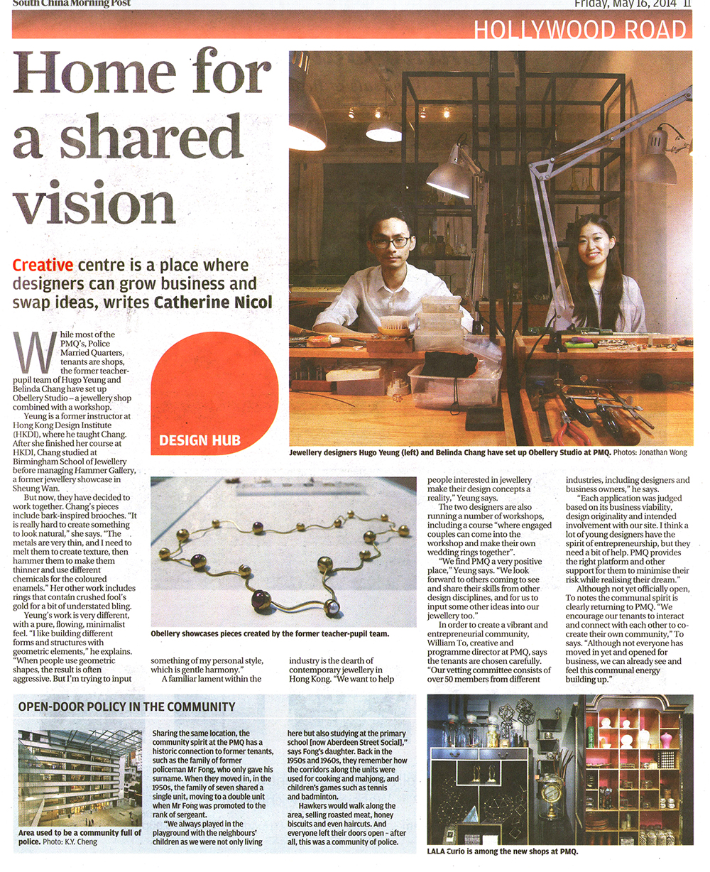 SOUTH CHINA MORNING POST - HOME FOR A SHARED VISION