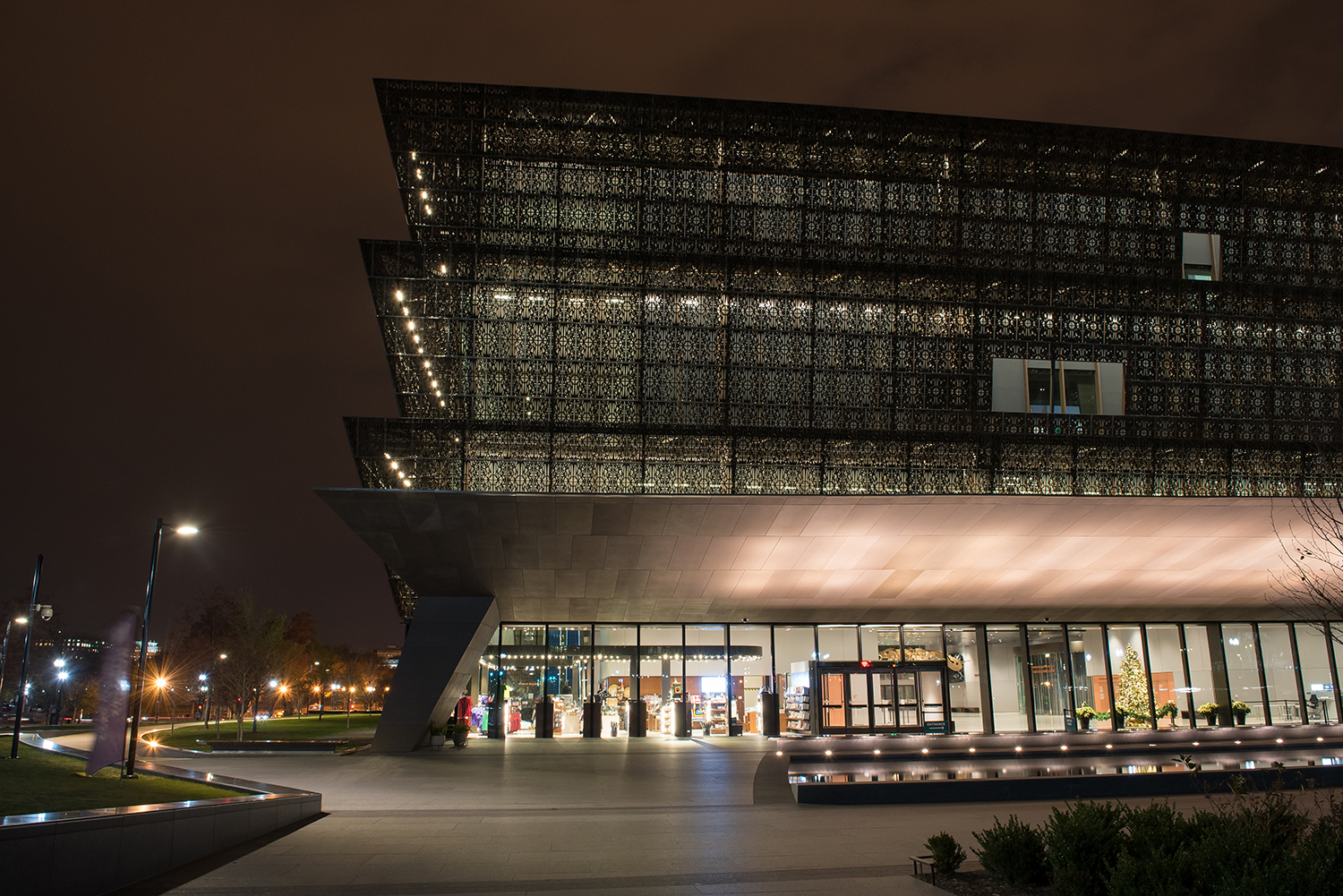 The brand-new National Museum of African American History and Culture in Washington, DC is completely wrapped in an intricate lattice structure.