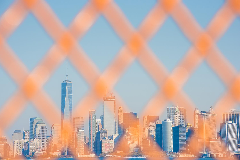 The Manhattan skyline as seen from the Staten Island ferry.