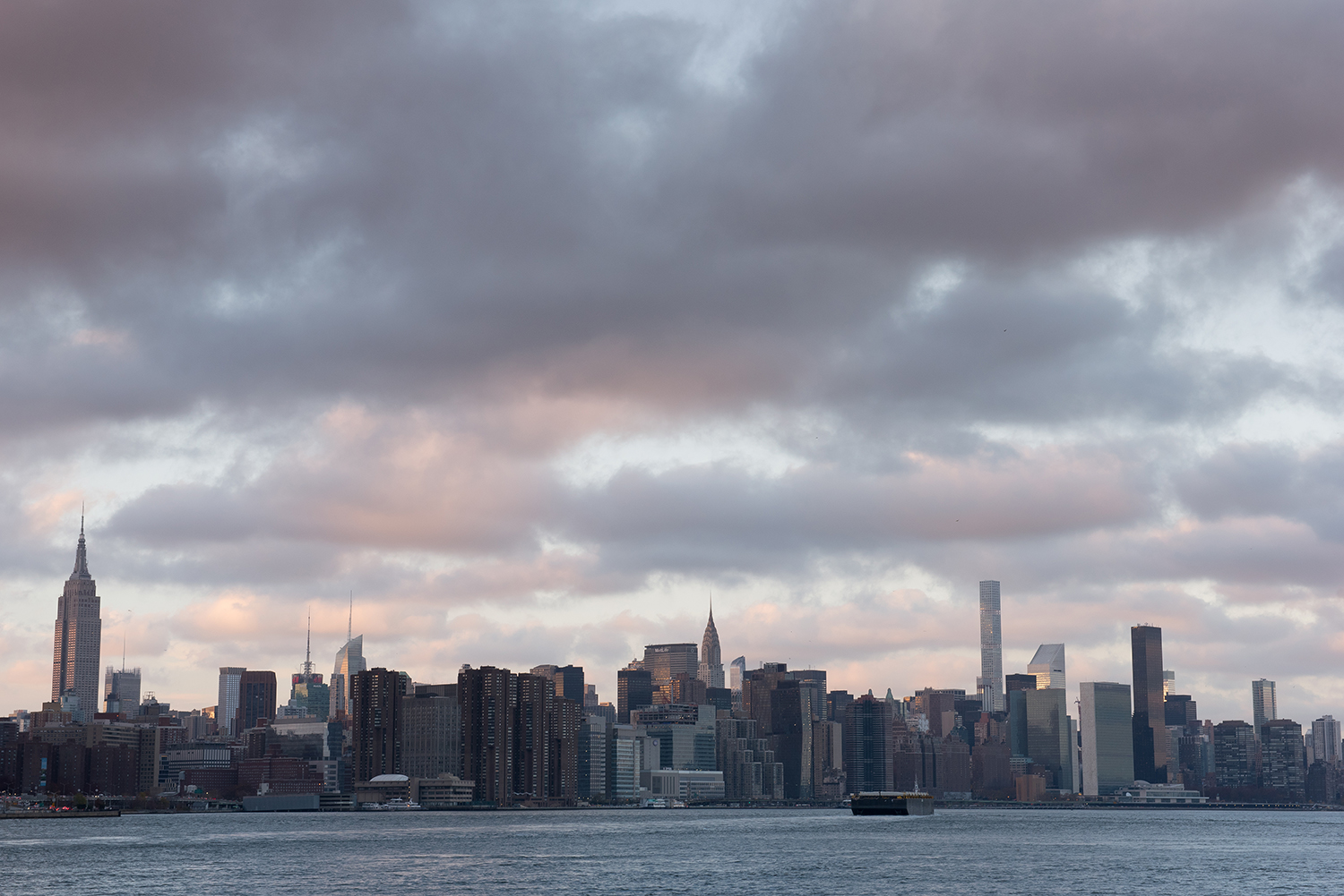 View of Midtown as seen from Williamsburg, Brooklyn, NYC.