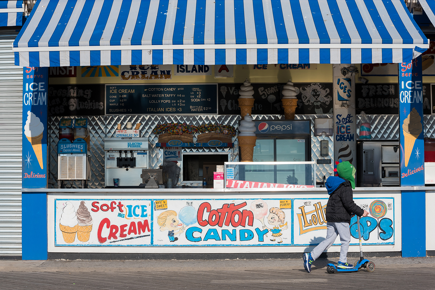 Too many temptations at Paul's Daughter on the Coney Island boardwalk.