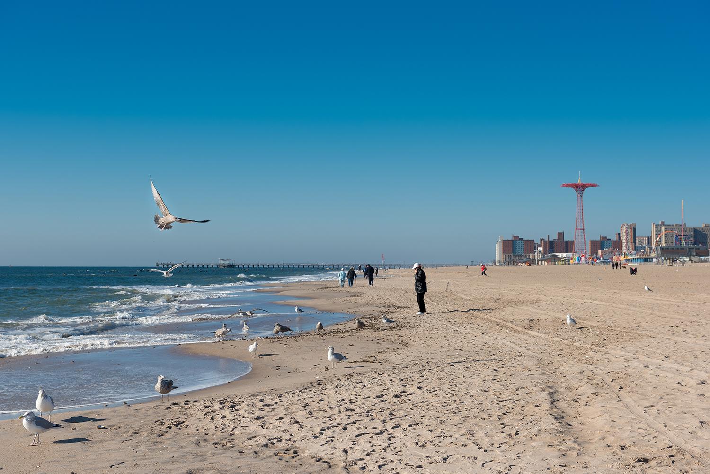 Coney Island beach.