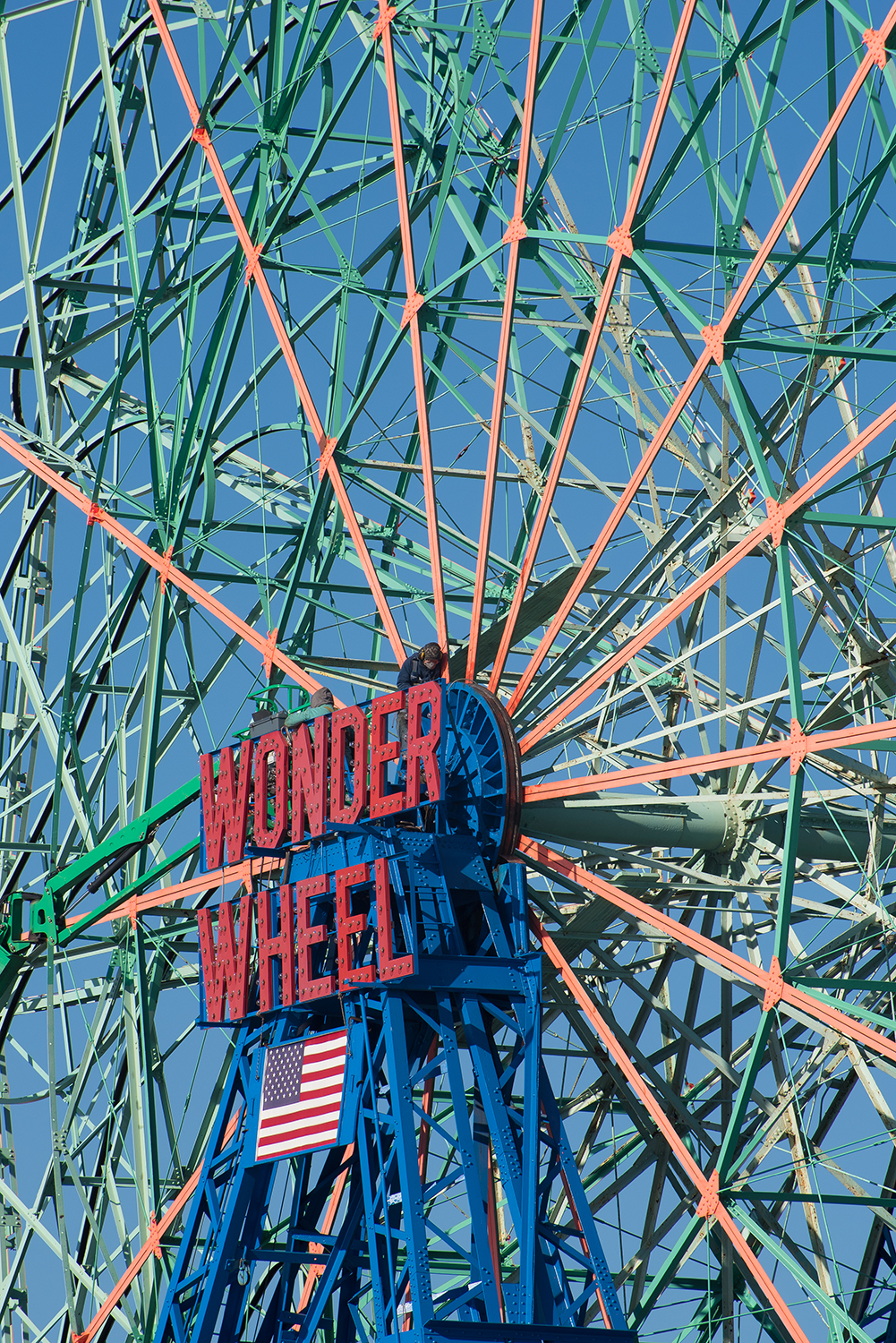 The Wonder Wheel can undergo its necessary maintenance now that the Luna Park is closed for the season.
