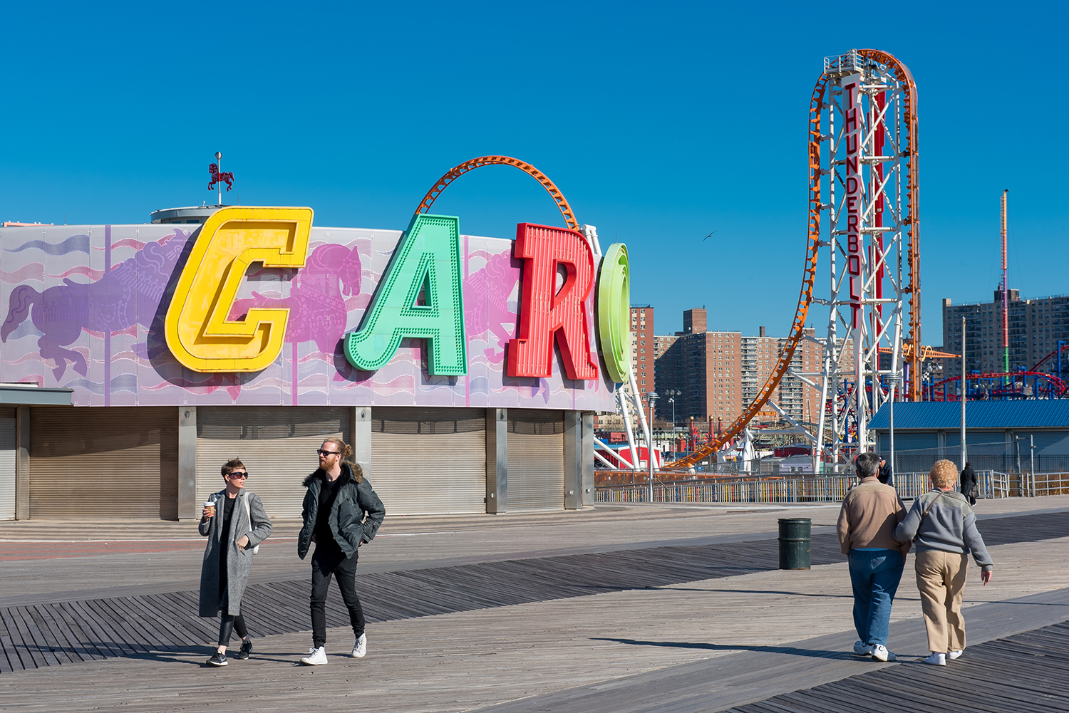 Sneakers required on the boardwalk! For hipsters as well as 'casual couples'...