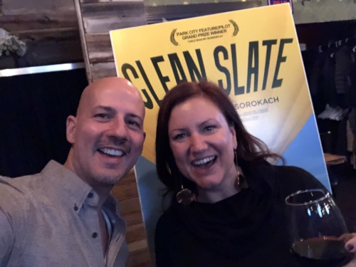 Derek Nicoletto with director Katharine Griffin.