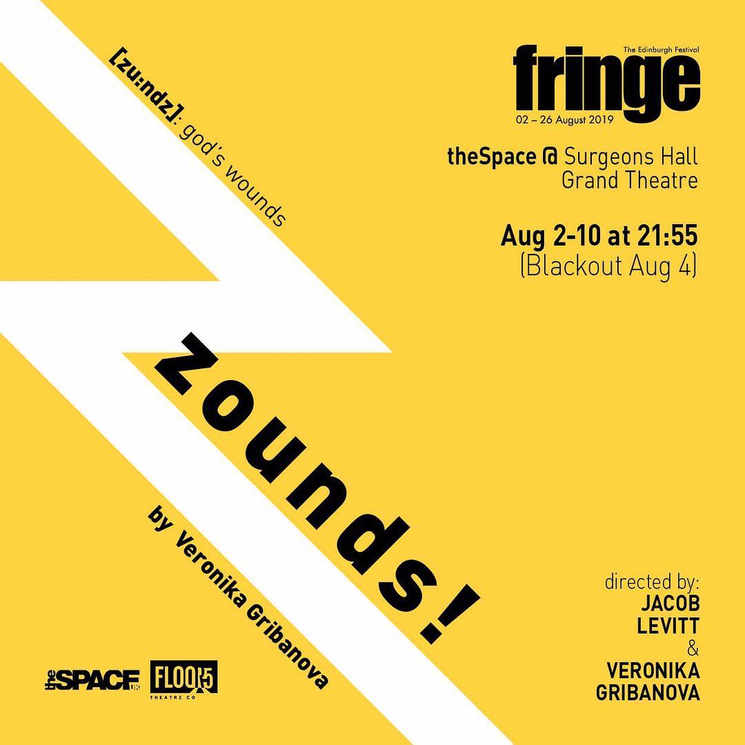 "Edinburgh Fringe - Derek Nicoletto will play HADES in ""zounds!"" by Veronika Gribanova in the esteemed Edinburgh Fringe Festival in August 2019!"