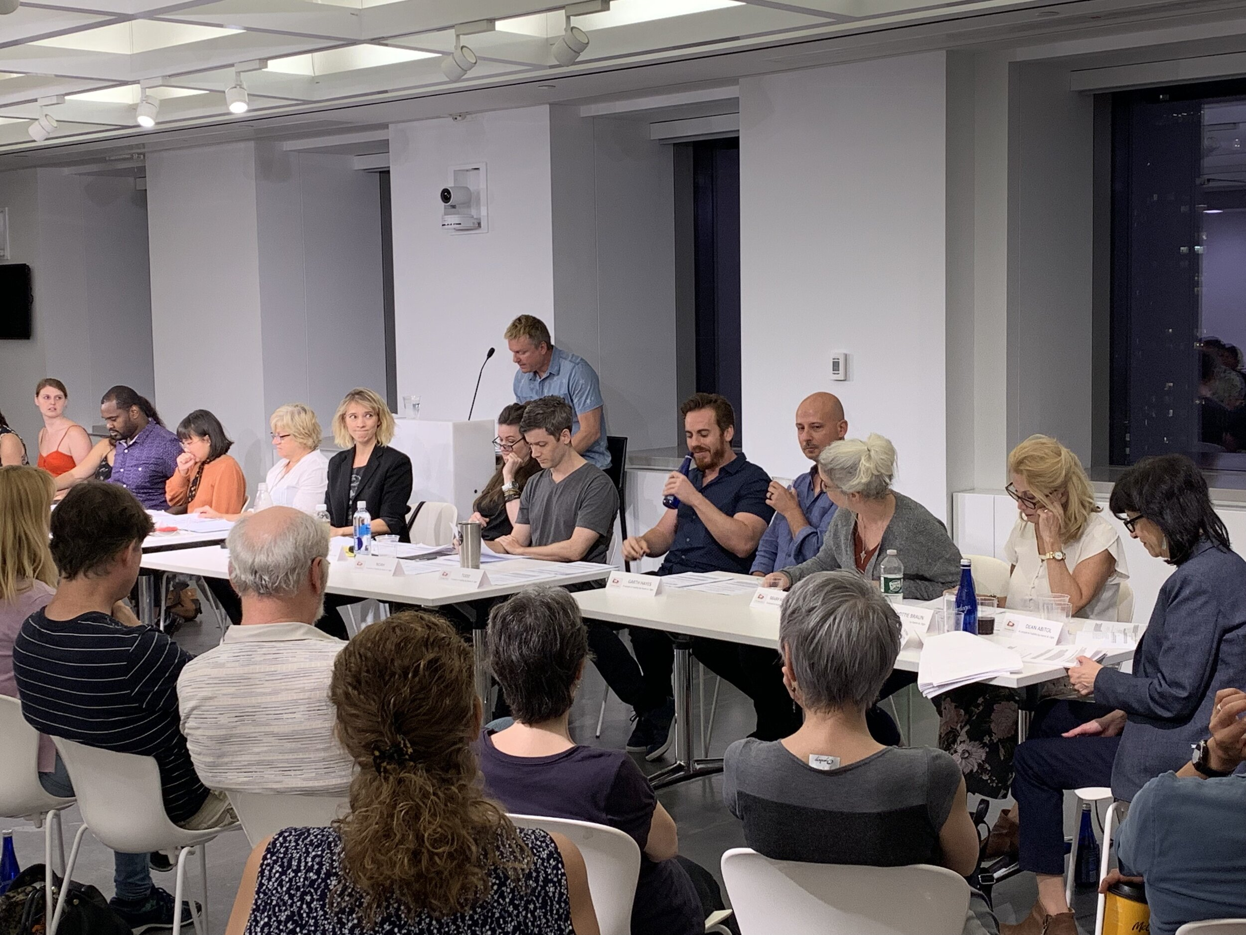"""The Drawing Board - On September 23rd, Derek Nicoletto acted in the table read of Karen A. Ogle's new pilot, """"A Lesson in Futility,"""" hosted by The Drawing Board. Derek read for Garth, an a-hole acting teacher."""