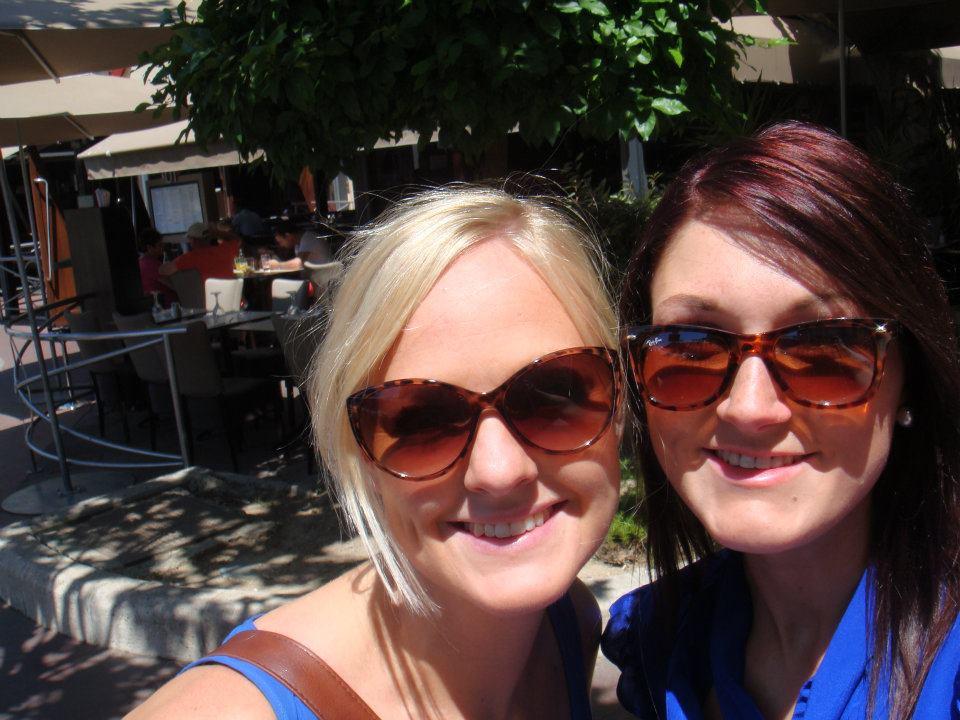 Myself and Katie Truelove enjoying the sun.
