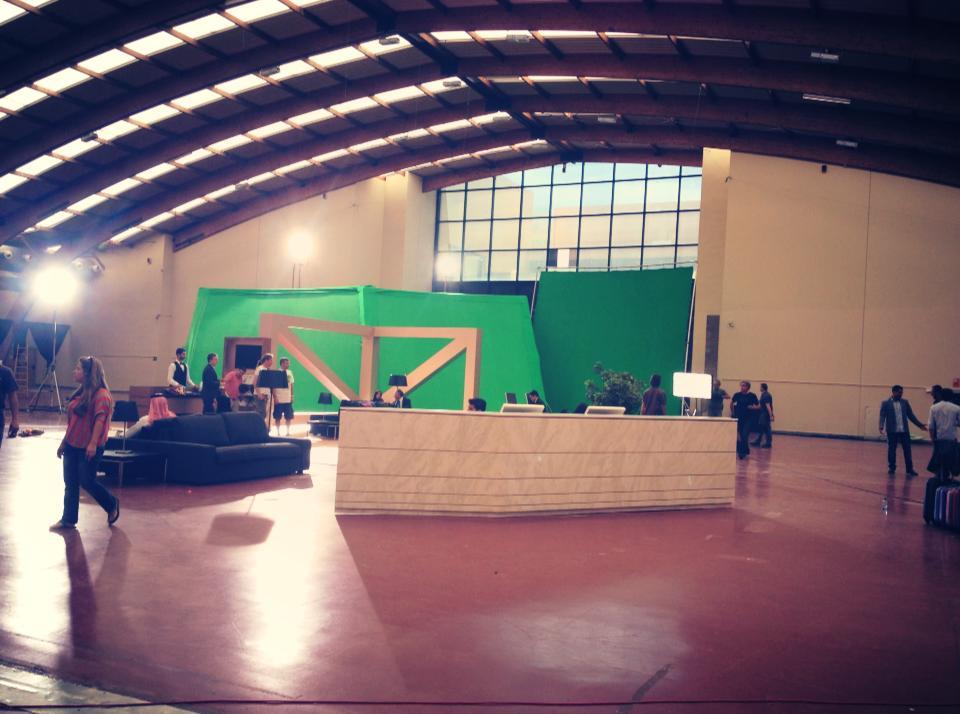 Green Screen shoot day in Marbella.