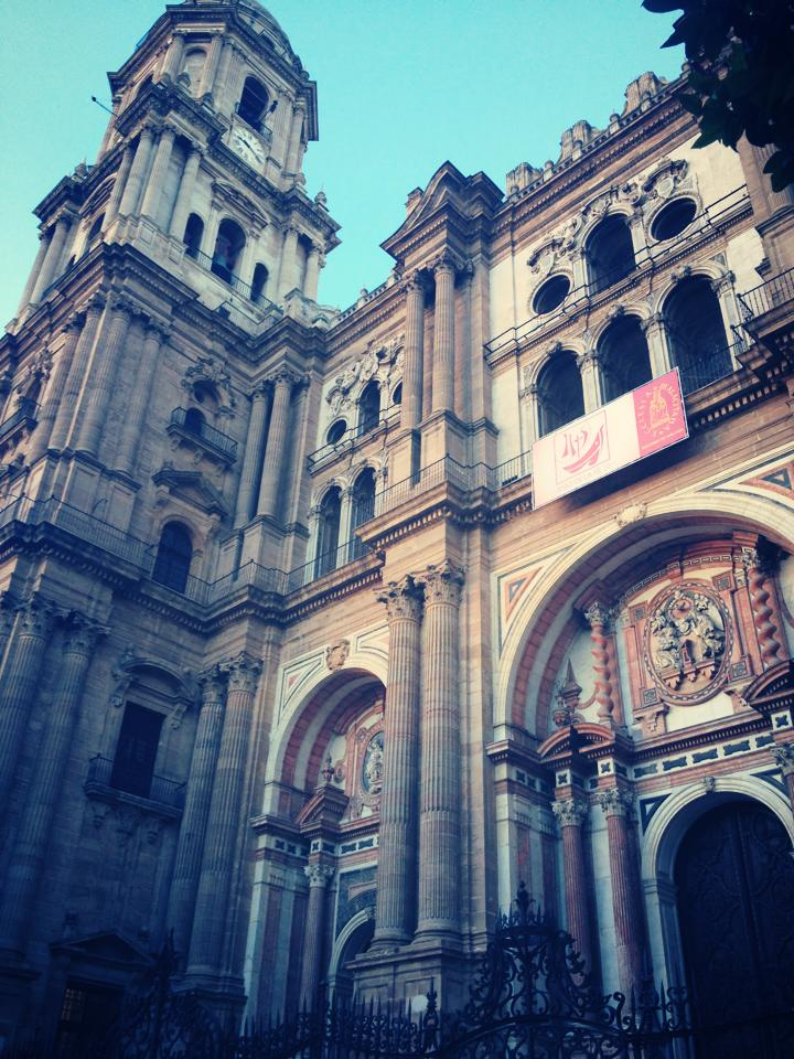Malaga Cathedral in Old Town.