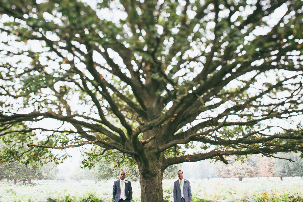 Civil Partnership Wedding Photographer Richmond Park London