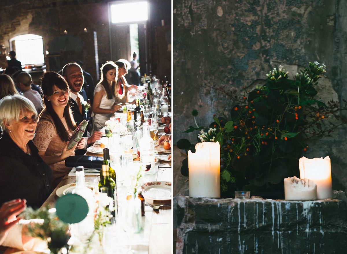london wedding photographer, asylum wedding venue, candlelit wedding