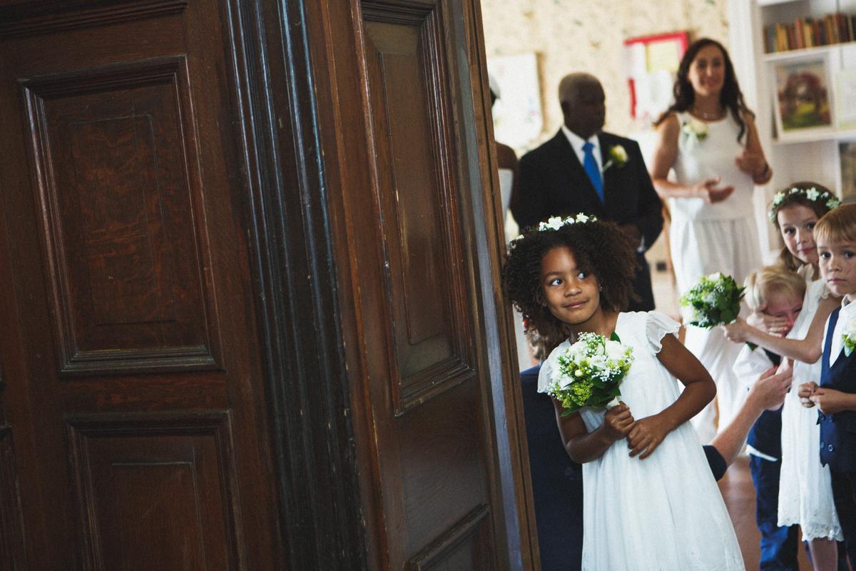 kids at the wedding, London wedding, Drffyn Gardens