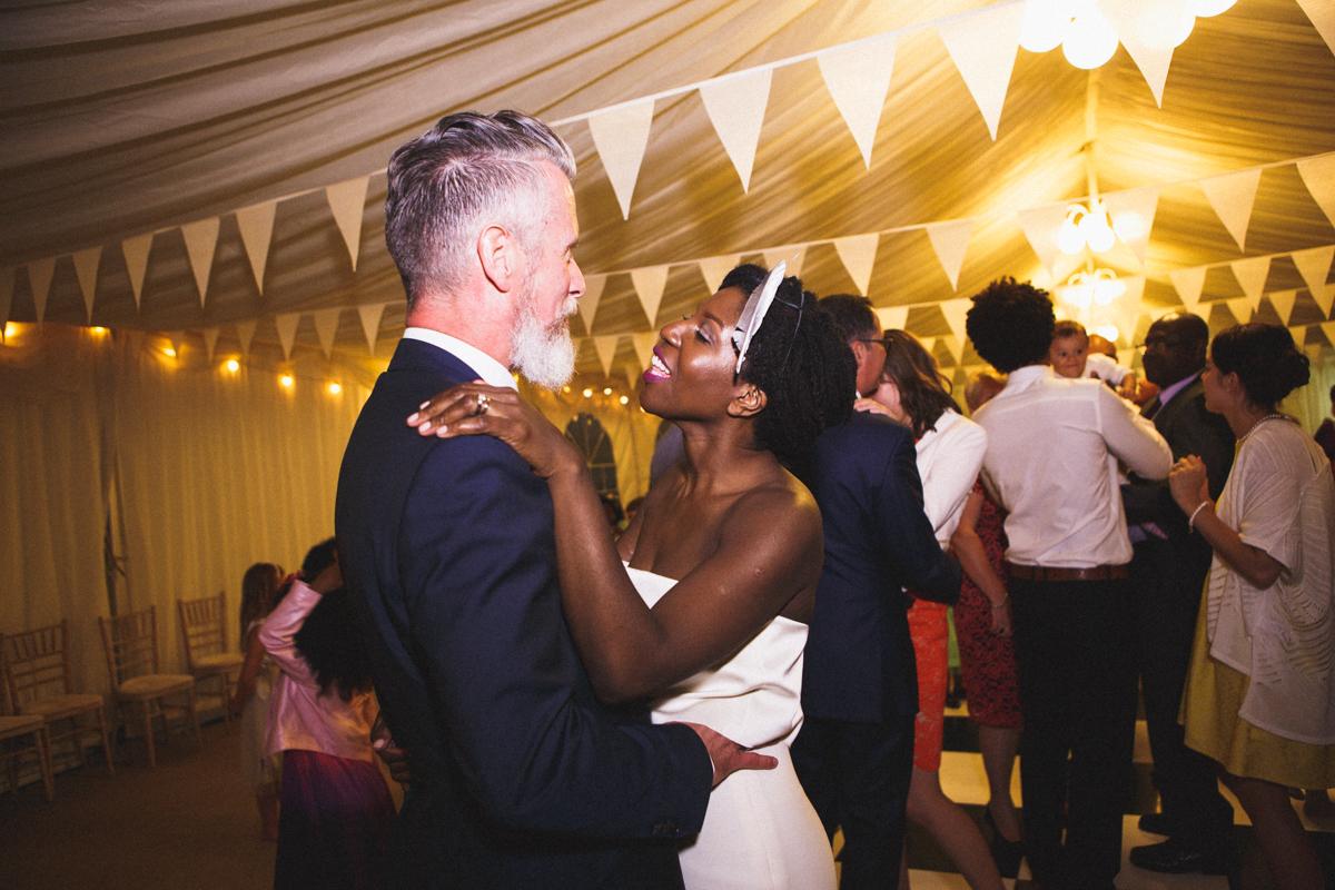 Wedding first dance evening