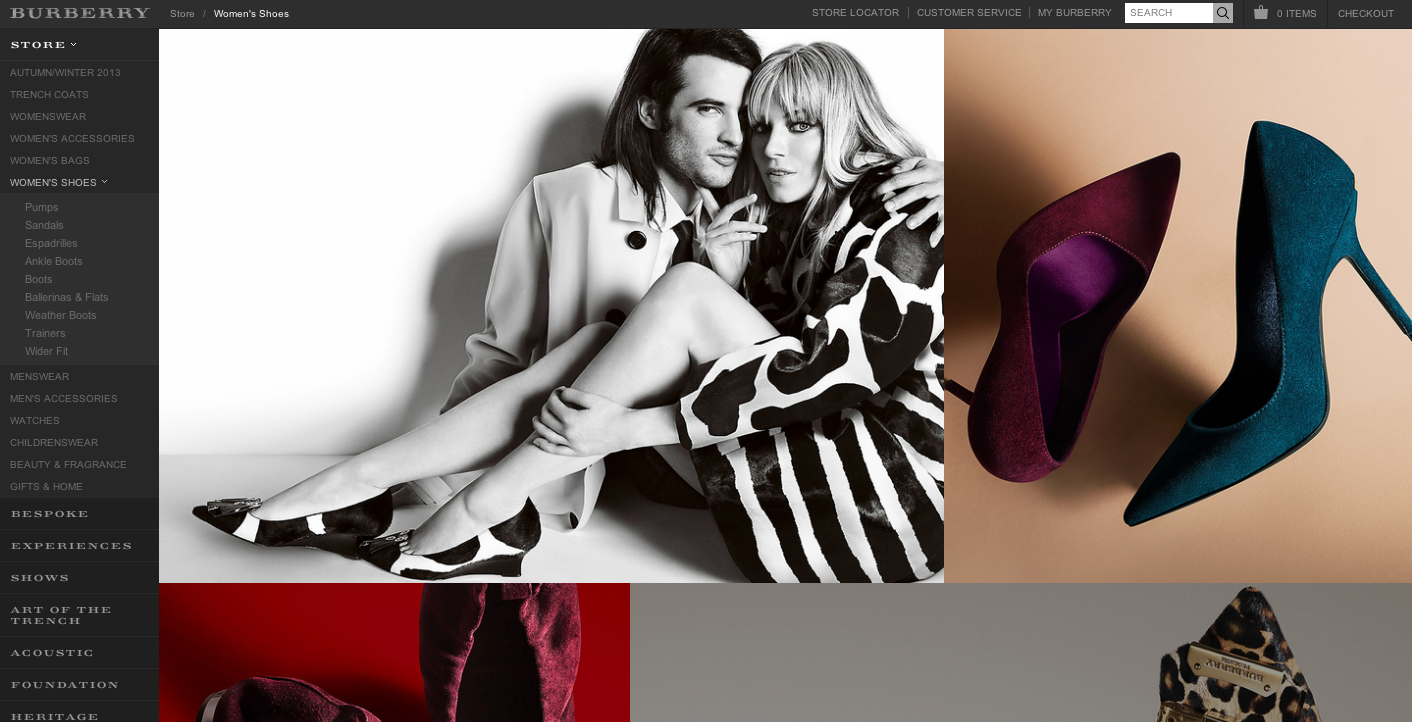 Burberry's Website, an expression of digital luxury