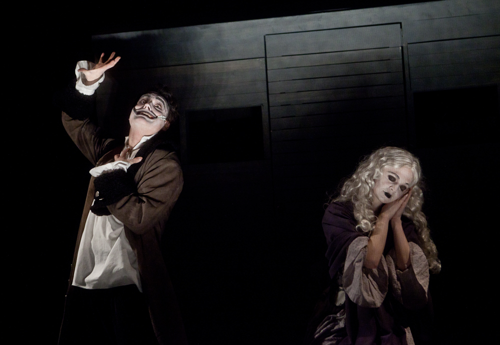Dave Droxler and Molly O'Neill in The Man Who Laughs.  Photos credit: Carrie Leonard