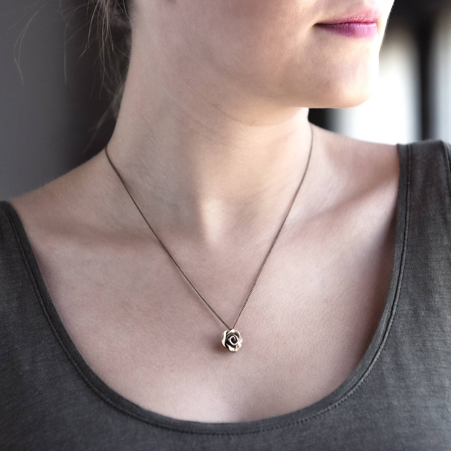 Rose City Necklace | Portland, Oregon | BluHour Jewelry